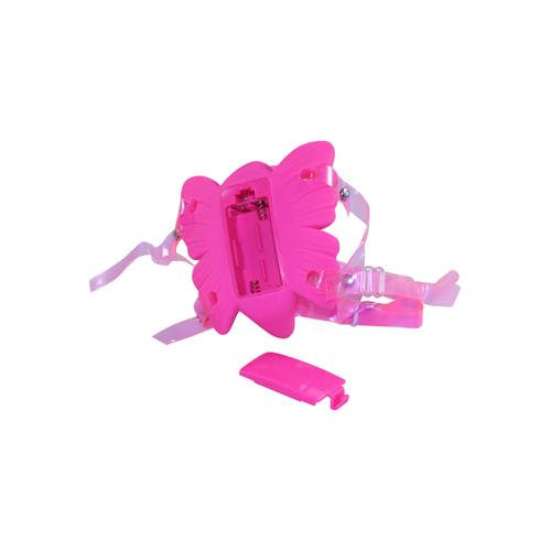 Roze opleg vibrator in de vorm van een vlinder, met een